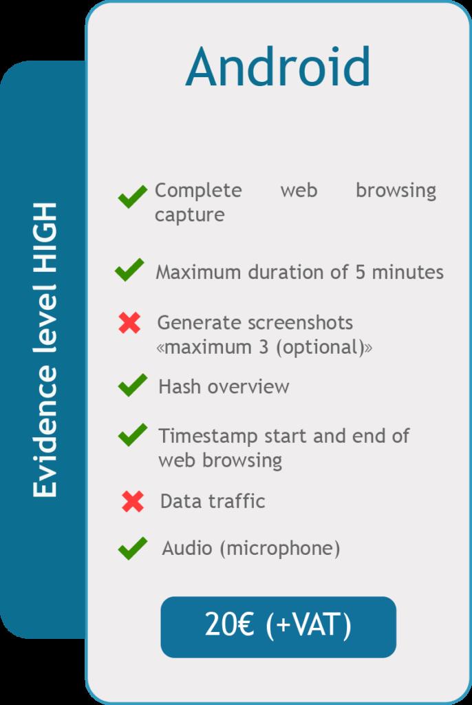 Acta de Navegacion Android Characteristics