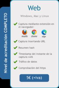 Acta de Navegación Web - Características