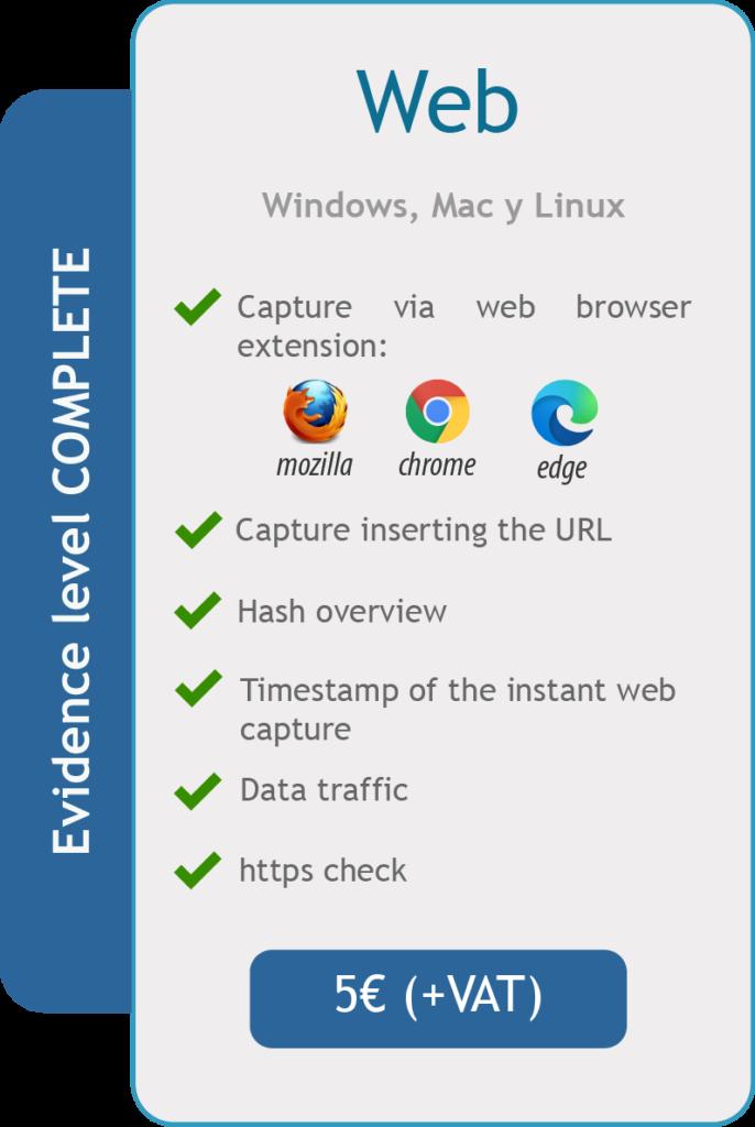 Acta de Navegación Web Characteristics