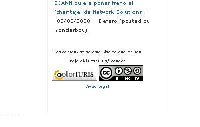 CI y CC en un mismo blog.