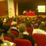 Carlos D. Aguirre presentando el Panel de Nombres de Dominio