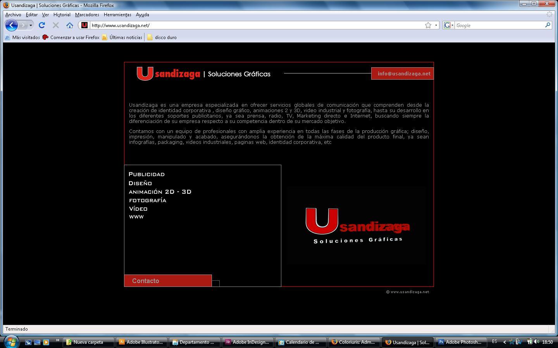 Pagina Web Usandizaga Soluciones Gráficas S.L.
